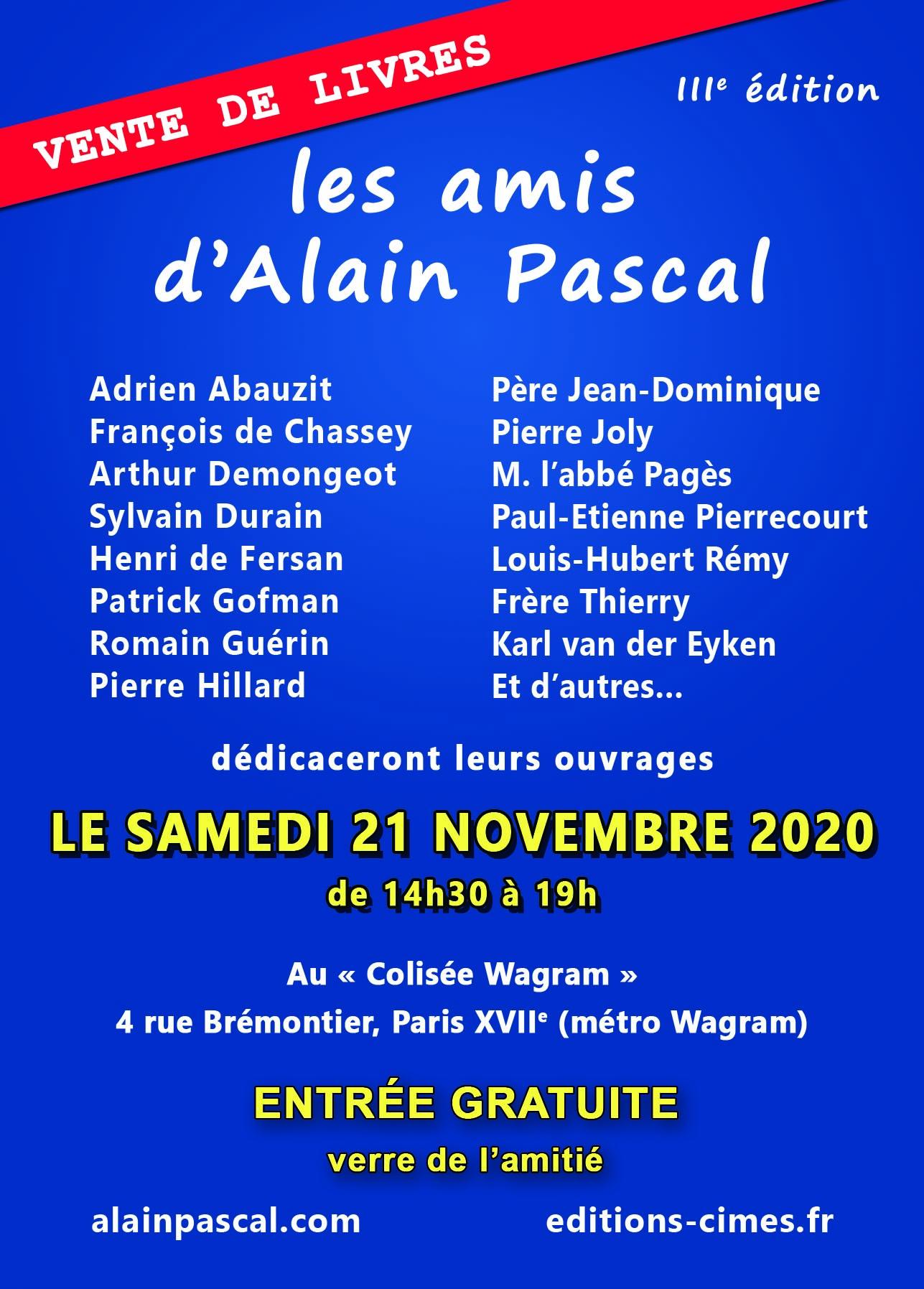 Amis d'Alain Pascal le 21 novembre 2020